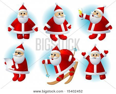 Funny Santa. Vector.