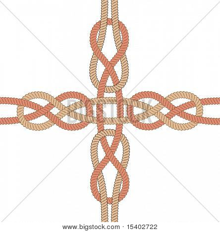 Knots. Vector seamless ornament.