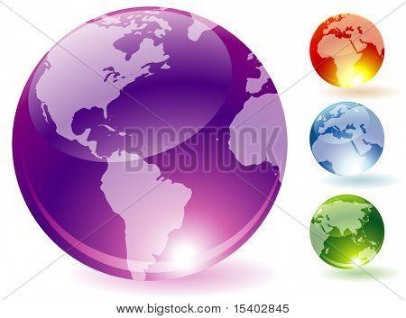 Refracting globes. Vector.