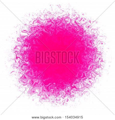 Beautiful bright pink spot stain ball decoration background creative image
