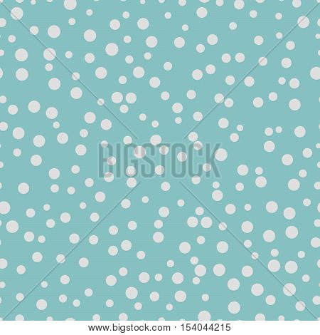Chaotic dots on a blue background Dots Seamless Pattern Dots Seamless Background White Circles Dots different sizes