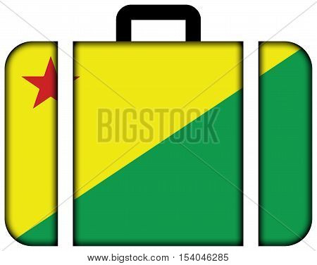 Flag Of Acre State, Brazil. Suitcase Icon, Travel And Transportation Concept