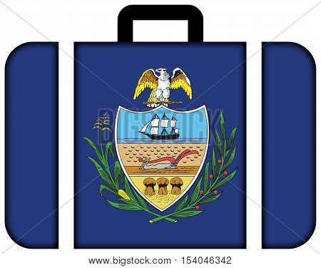 Flag Of Allegheny County, Pennsylvania, Usa. Suitcase Icon, Travel And Transportation Concept
