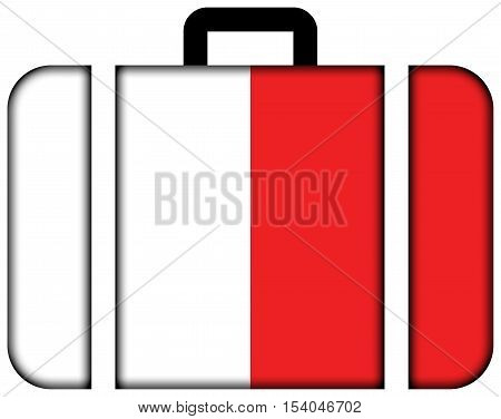 Flag Of Bari, Italy. Suitcase Icon, Travel And Transportation Concept