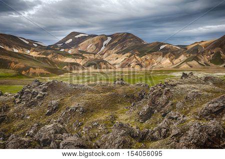 Beautiful mountains at Landmannalaugar, Iceland