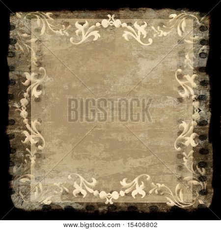 Vintage Grunge With Decorative Border