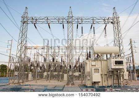 Mechanical treatment reactor rectangular voltage in high-voltage stations outdoor.