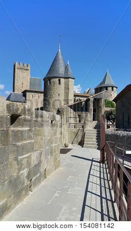 Medieval castle of Carcassonne Languedoc- Roussillon France