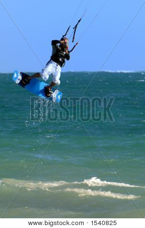 Airborne Kite Surfer