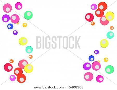 Vector Fun Colorful Bubbles Background