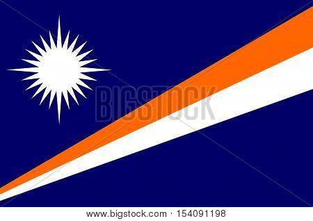 Flag of Marshall Islands, Majuro capital. Illustration
