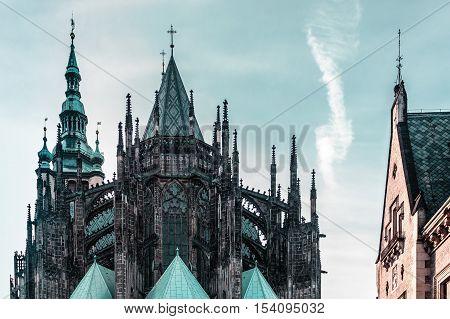 St. Vitus Cathedral At Prague, Czech Republic