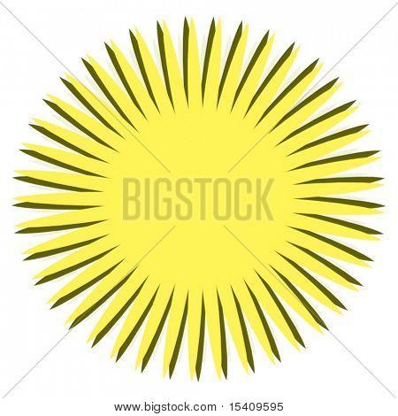 Big Summer Sun Vector