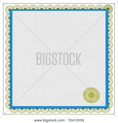 Vector Gold Certificate