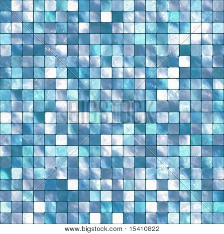 Large Seamless Blue Tiles Background, See Vector Also In My Portfolio