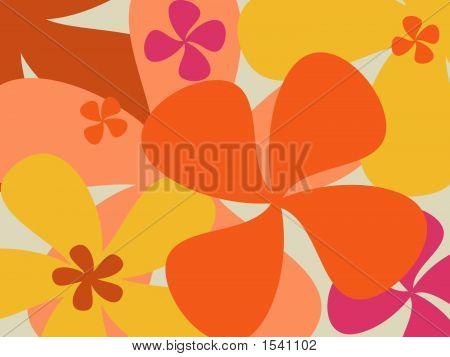 Retro Flower Background - Vector