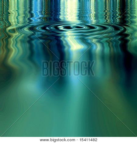 Water Ripples And Smooth Reflection