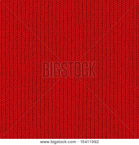 Seamless Red Wool Closeup
