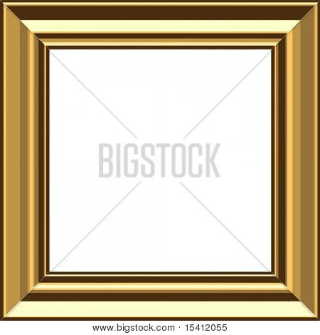 Vector Stylish Gold Frame, Also See Jpeg In My Portfolio