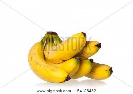 Image of ripe bananas studio isolated on white background
