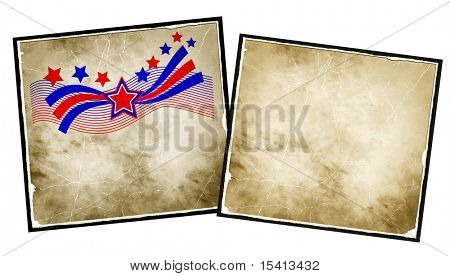 Large Stars And Stripes Patriotic Background With Extra Blank Paper