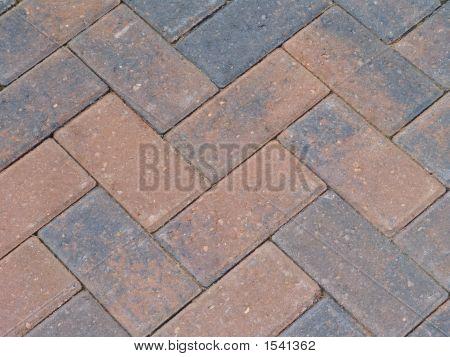 Zig Zag Brick Paving (Close-Up)