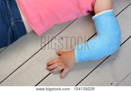 Child With Arm Cast