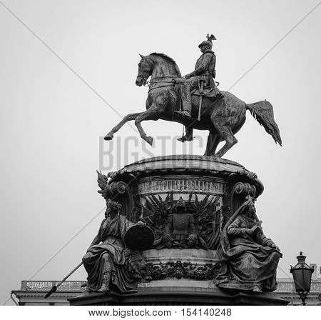 Tsar Statue With The Horse