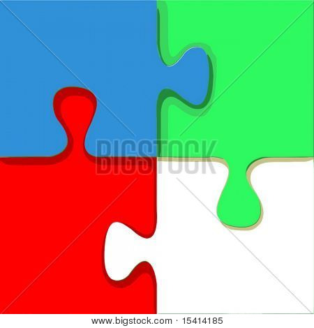 Vector Bright Puzzle, See Jpeg Also In My Portfolio
