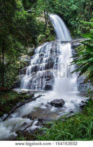 Huai Sai Lueang Waterfall in Doi Intanon national park pf Chiangmai Thailand.