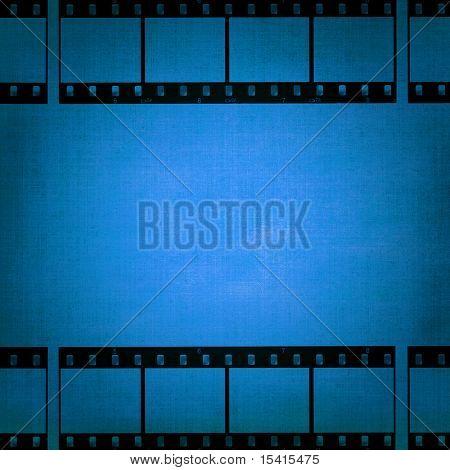 Filmstrips On Blue