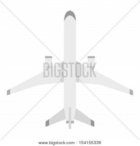 Big plane icon. Flat illustration of big plane vector icon for web