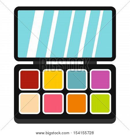 Palette eye shadow icon. Flat illustration of palette eye shadow vector icon for web