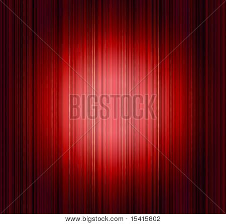 Dramatic Red Drapes