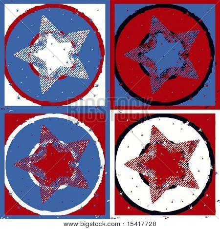 Vector Retro Stars, See Jpeg Also