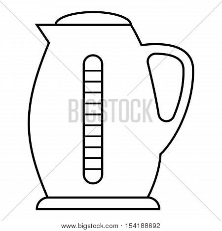Plastic electric kettle icon. Outline illustration of plastic electric kettle vector icon for web
