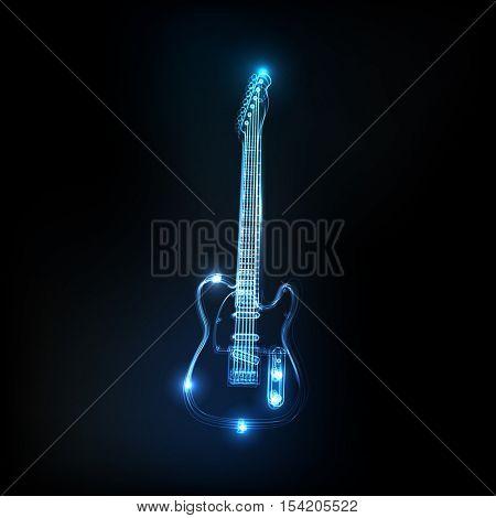 Neon guitar easy all editable