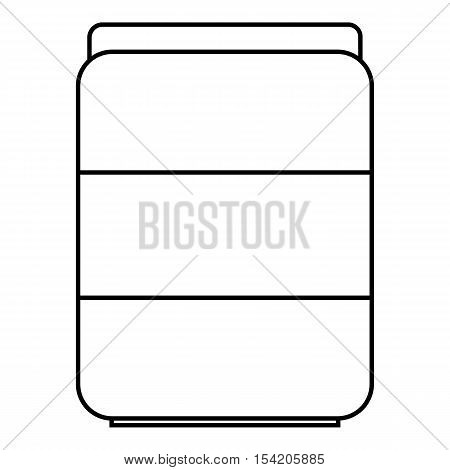 Jar of pills icon. Outline illustration of jar of pills vector icon for web