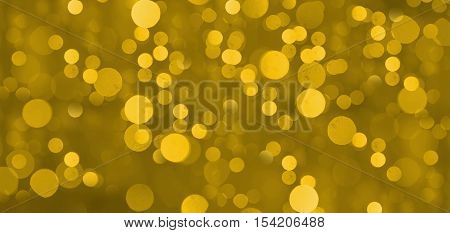 De-focused gold abstract christmas and new year background