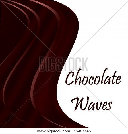 Vector Chocolate Waves