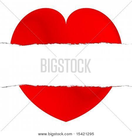 Broken Torn Red Heart