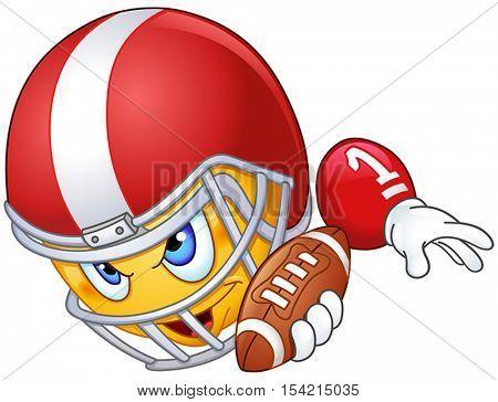 American football player mascot