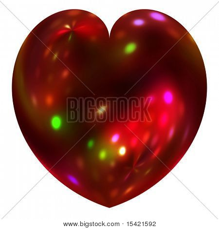 Holiday Light Heart