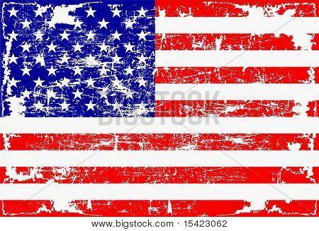 Vector American Flag Grunge