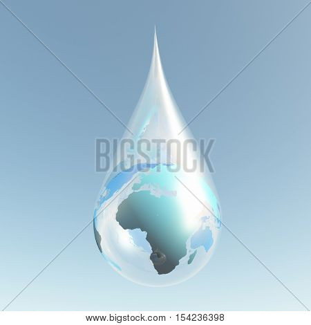 Droplet Africa   3D Render  Some elements provided courtesy of NASA