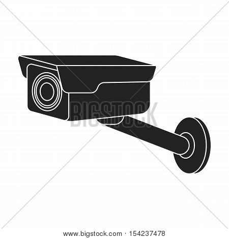 Hidden camera icon in black style isolated on white background. Hotel symbol vector illustration.