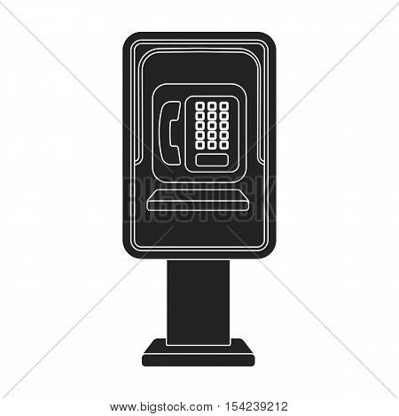 Payphone icon in black style isolated on white background. Park symbol vector illustration.