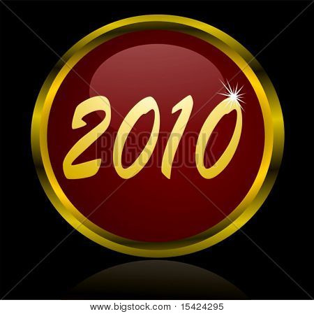 Vector 2010 Big Glossy Button