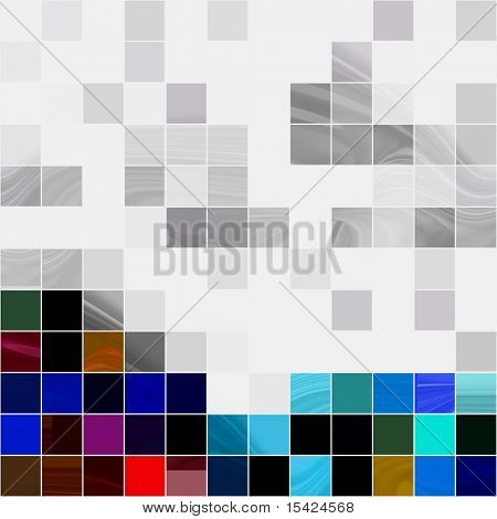 Mosaico azulejos sem costura de fundo