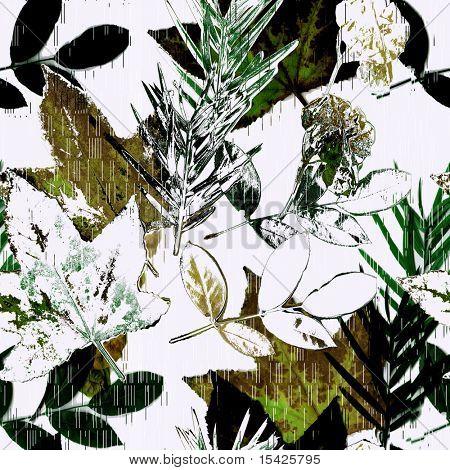 Seamless Leaves Watercolor Art